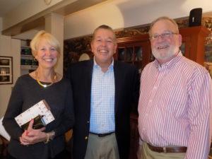Sarah Lindblom, Erik Lindblom, Dave Labrie at a DINE meeting