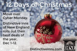 1 Days of Christmas banner for DINE promotion