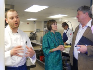 Chef Matt Skobrak, along with Karl and Jane Sabo offer a behind-the-scenes look at the Deerfield Inn's new kitchen.