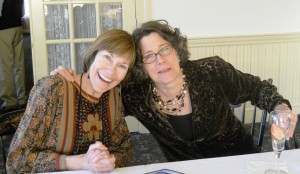 Jane joins colleague Judy Heuber of the Chesterfield Inn with big smiles at a recent Distinctive Inns of New England meeting.