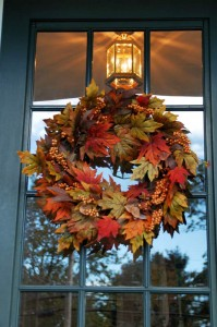 Fallfoliage2012-wreath at Camden Maine Stay