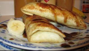 ginger caramel banana wrap