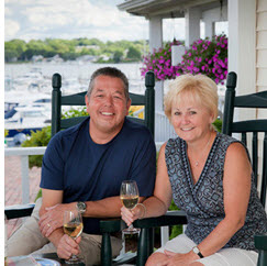 Dave and Sue Labrie from the Inn at Harbor Hill Marina know how to wine and dine their guests!