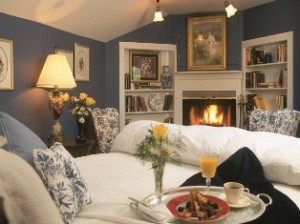 Relaxing guest rooms offer private fireplaces and decks.