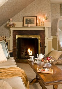 Rabbit Hill Inn - warm up with a soft blanket, tea and warm fireplace