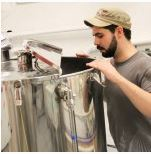 Beer production at Beer'd Brewing Co