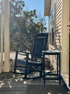 Rocking chairs at Inn at English Meadows