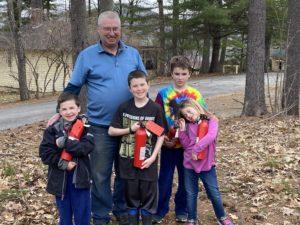 Brian and grandchildren at Manor on Golden Pond