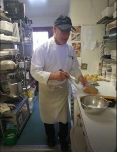 Brill, breakfast chef at Rabbit Hill Inn