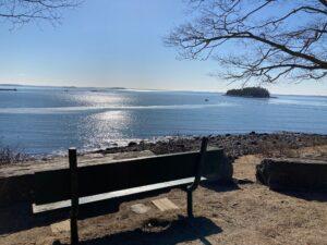 Camden Outer Harbor bench