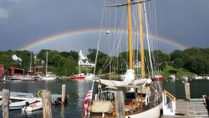 Rainbow in Rockport, Maine.