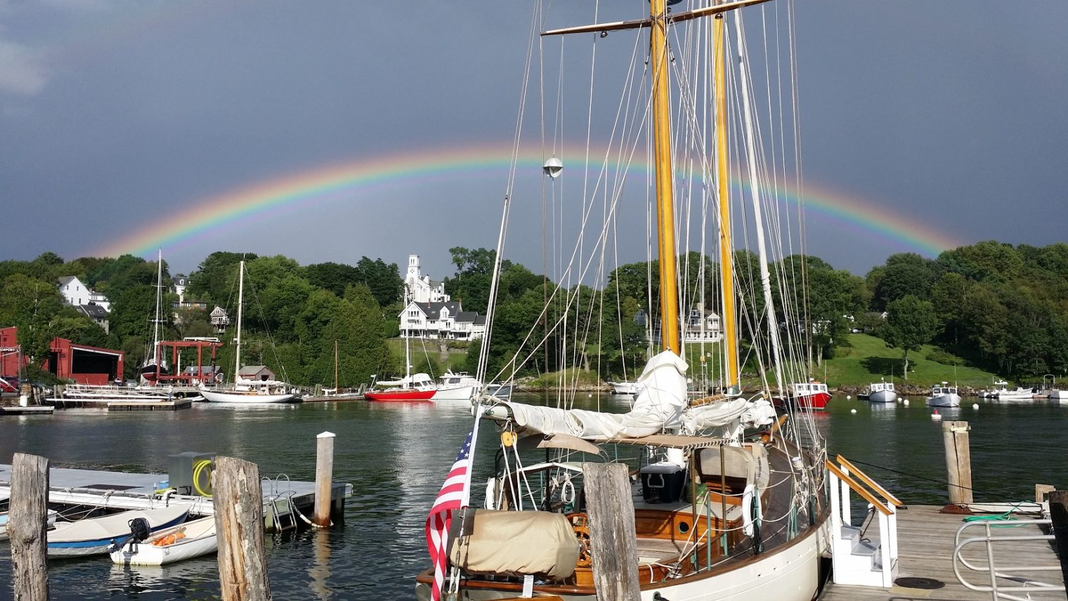 Rockport rainbow near Camden Maine Stay Inn