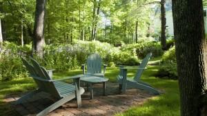 Garden chairs at Camden Maine Stay