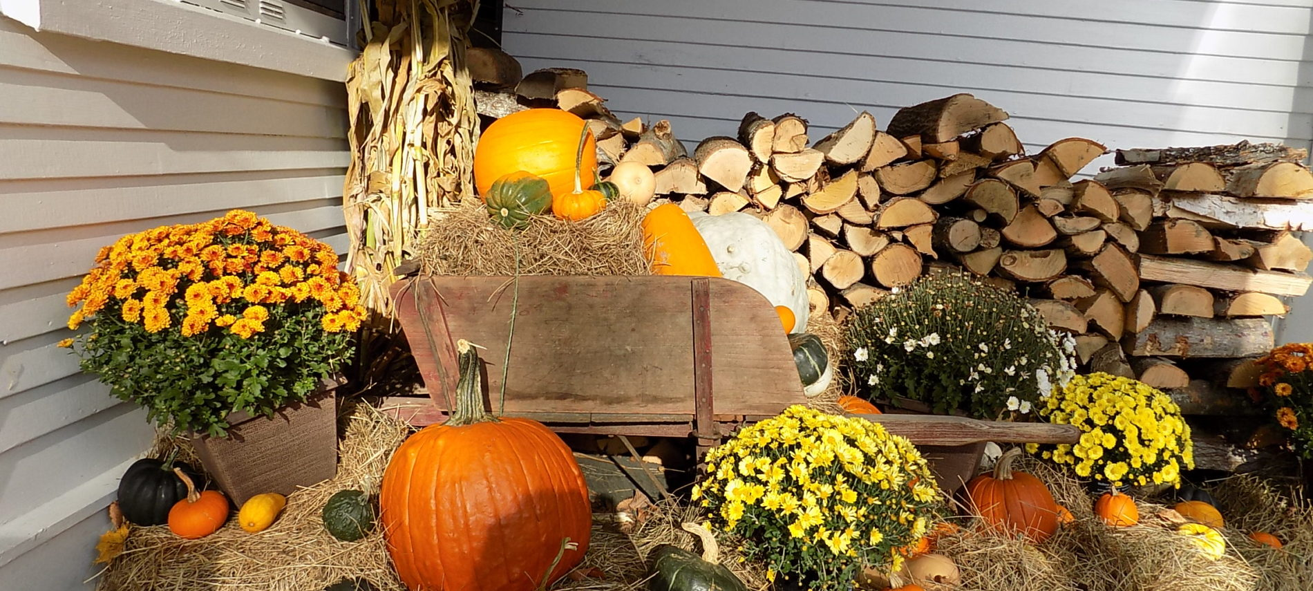 Fall decor, Captain Jefferds Inn, Kennebunkport, ME