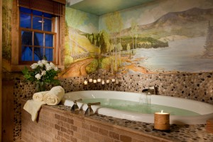 Beautiful soaking tub at Captain Jefferds Inn
