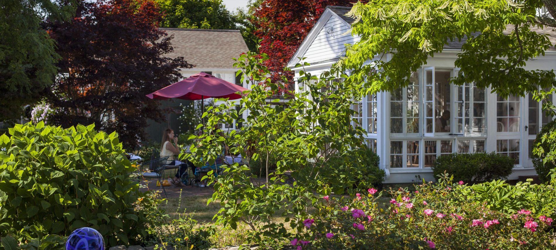 Summer gardens at Captain's House Inn