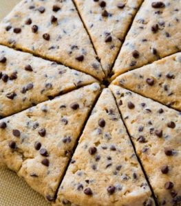 Recipe for Chocolate Chip Scones from Deerfield Inn