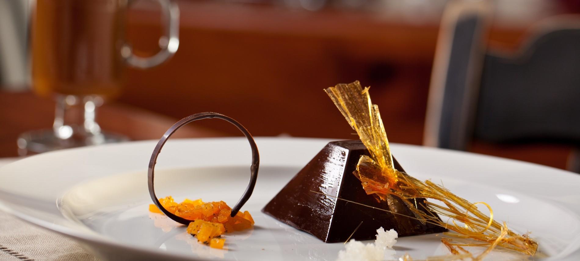Chocolate Pyramid, dessert at Rabbit Hill Inn