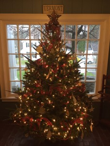 Christmas tree at Grafton Inn, Vermont