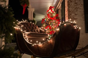 Holiday sleigh at Grafton Inn, Vermont.