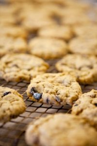 Salted Blueberry Cookies