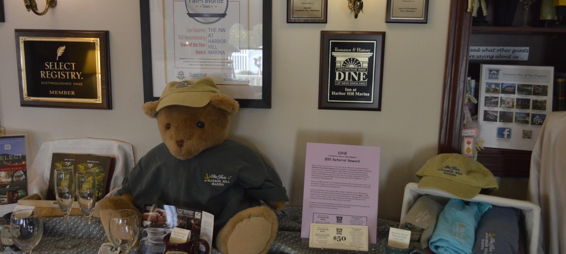 DINE dollars display at Inn at Harbor Hill Marina