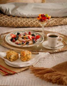 Breakfast served in-room at Chesterfield Inn