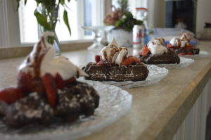 Recipe for Double Chocolate Waffles from Inn at Harbor Hill Marina