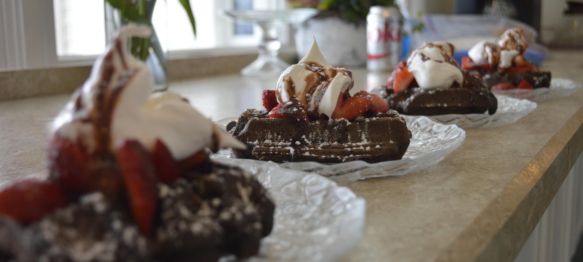 Double Chocolate Waffles from Inn at Harbor Hill Marina