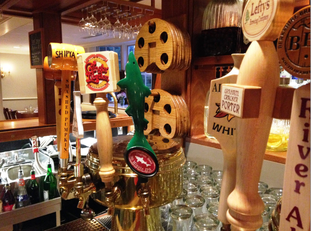 A fine selection of craft beers at Deerfield Inn