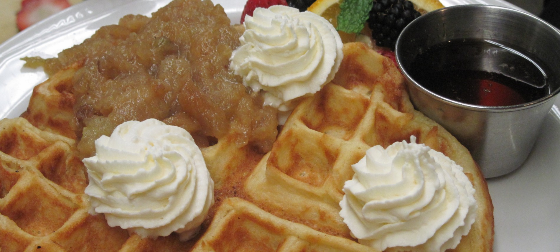 Waffles from Deerfield Inn