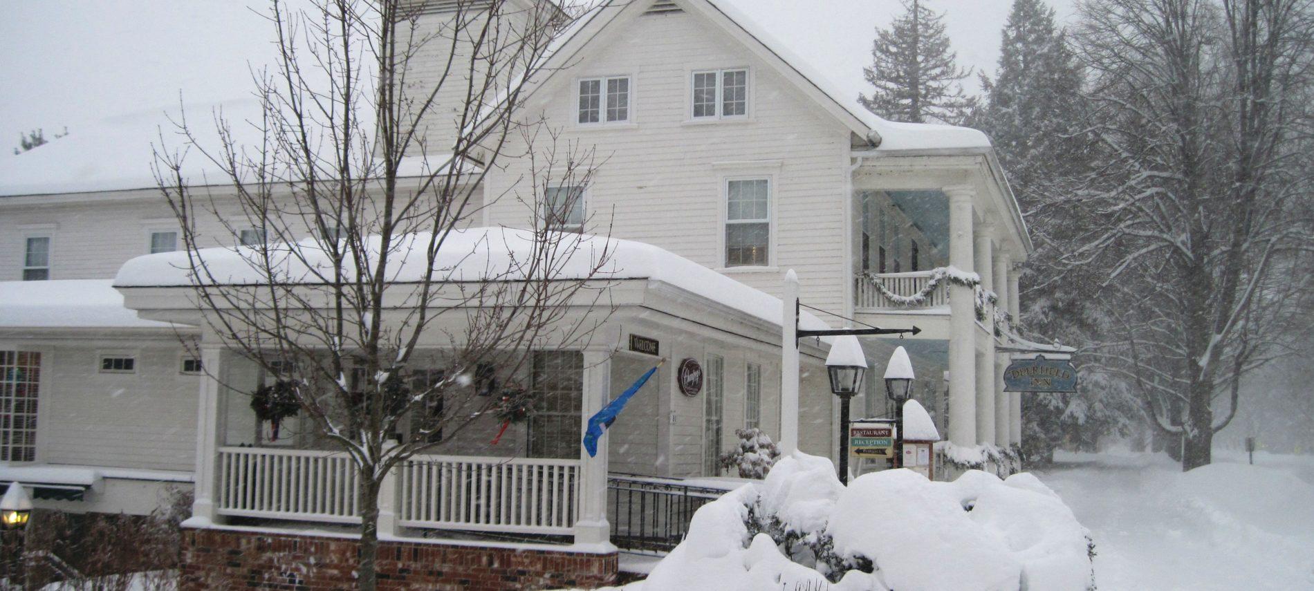 Winter view of Deerfield Inn