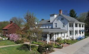 Spring view of Deerfield Inn