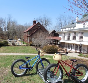 Bikes for guests at Deerfield Inn.