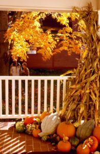 Fall decorations at Deerfield Inn