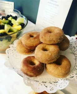 Sugar donuts served at Harbor Light Inn