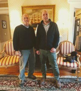 Two men posing at Captain's House Inn