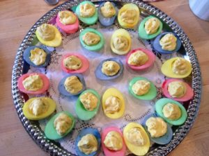 Deviled colored eggs from Cliffside Inn
