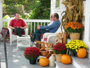 Fall porch scene at Rabbit Hill Inn