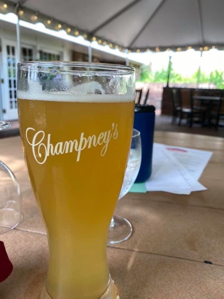 Deerfield Inn - golden beer under the tent