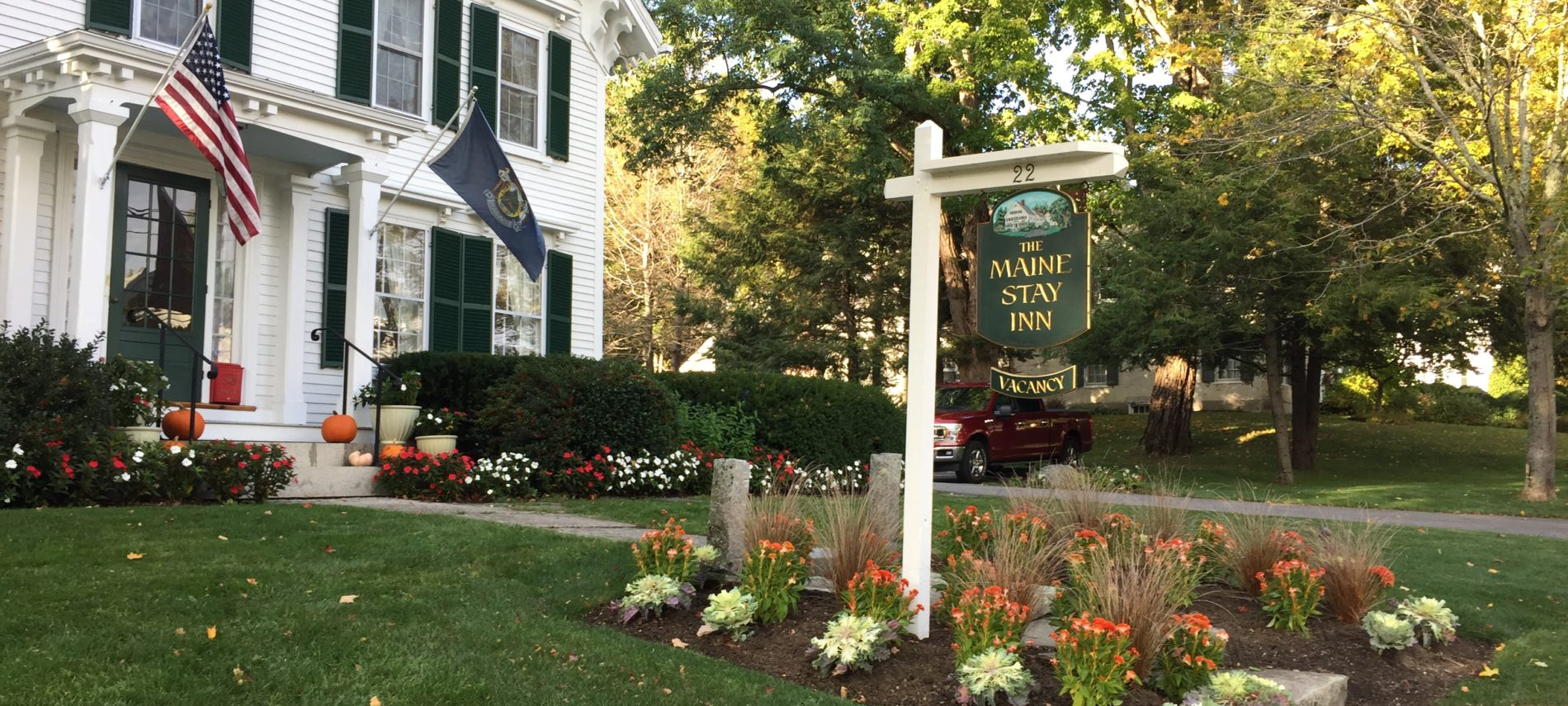 Fall view of the Camden Maine Stay Inn