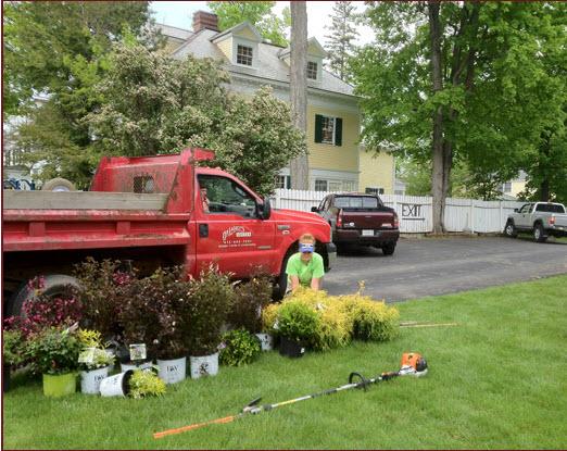 Planting spring gardens at Gateways Inn