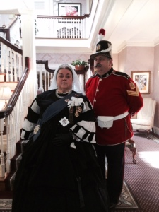 Queen Victoria visited Gateways Inn.  Or at least someone who looks like her.