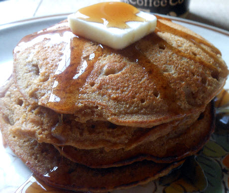 Gingerbread pancakes recipe from Rabbit Hill inn