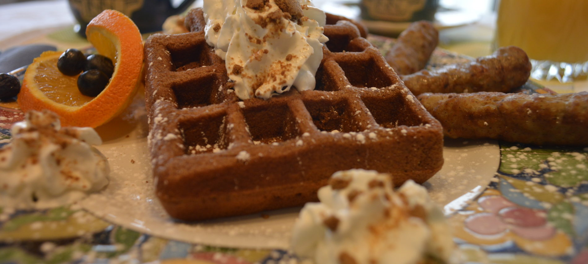Gingerbread Waffles, Inn at Harbor Hill Marina