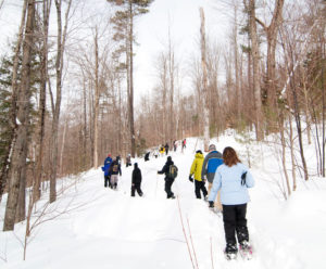 Grafton Ponds snowshoeing