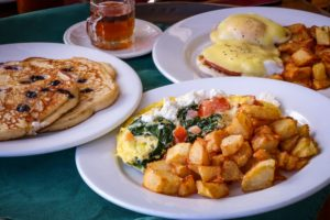 2 breakfast dishes served at Grafton Inn Vermont