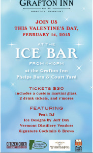 Ice Bar on Valentine's Day at Grafton Inn