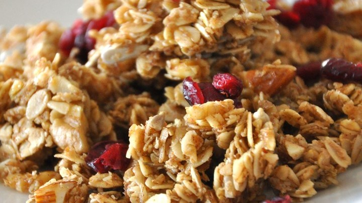 close up of granola
