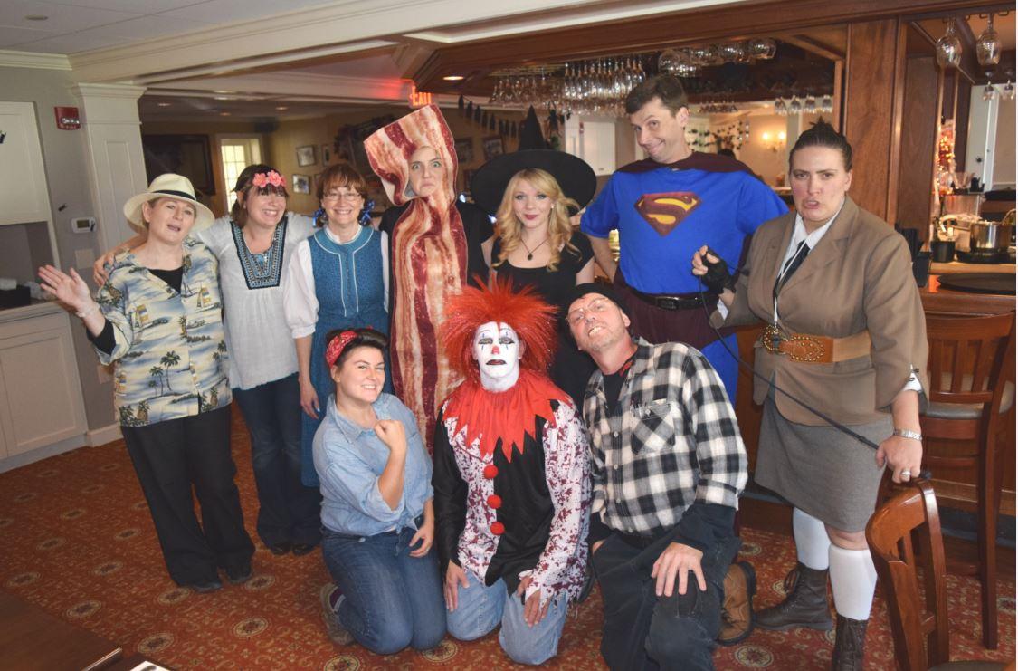 Halloween costumes at Deerfield Inn